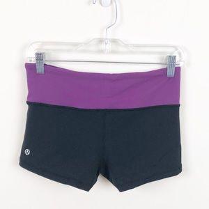 Lululemon Reversible Black & Purple Boogie Shorts